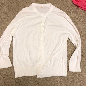 JCrew 3/4 sleeve cardigan - white - XL - EUC